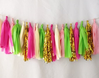 Watermelon Tassel Garland