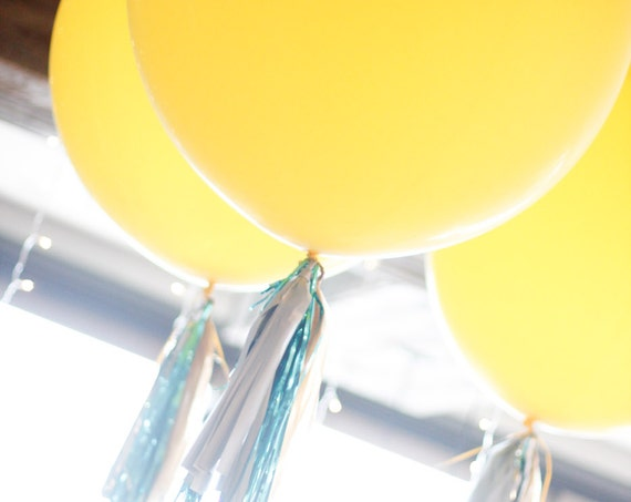 Giant Balloon and Tassel Tail - Choose you colors!