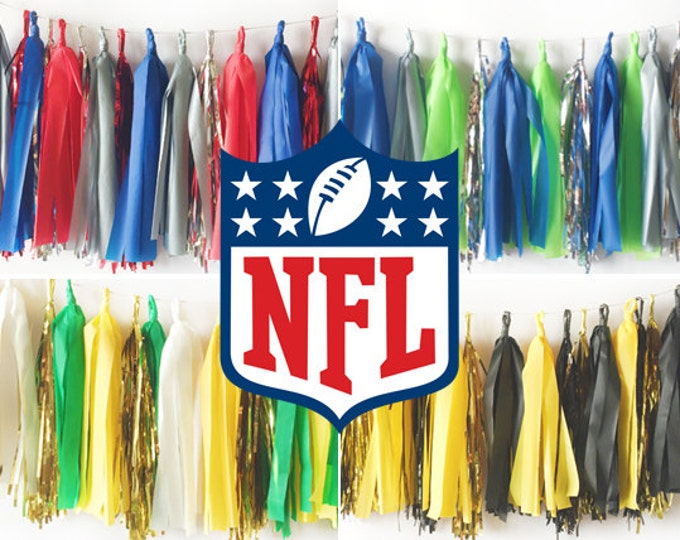 Featured listing image: NFL Tassel Garland - Choose your team!