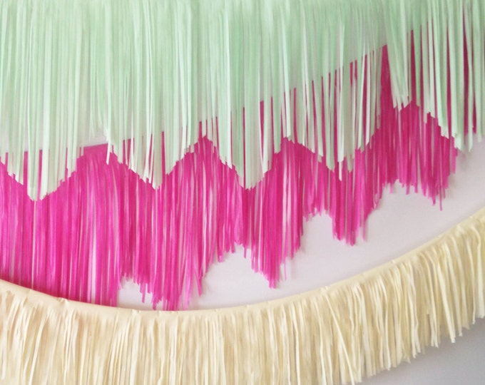 Featured listing image: Mint Fringe Garland