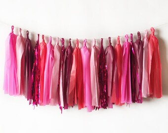 Pink Metallic Tassel Garland