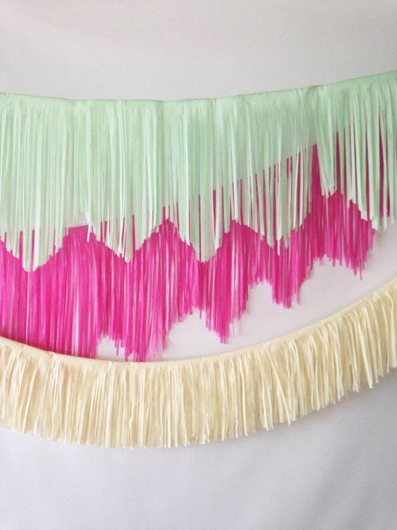 Mint Fringe Garland