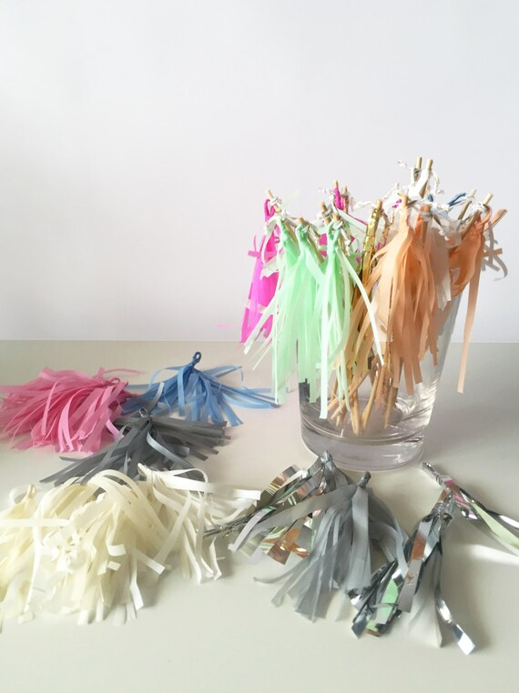 Mini-Tassel Cupcake Toppers - Choose your Color!
