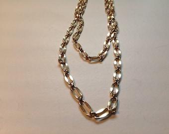 Vintage large link chain necklace