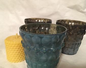 Mercury Glass, Tea Light Holder, Votive Holder, Home Decor, Beeswax Holder, Gift Idea