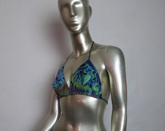 83f6e58a71a Graffiti Festival Bikini Top - Boho Bikini Top - New For 2019! - Graffiti  Halter Top - Festival and Burning Man Fun!
