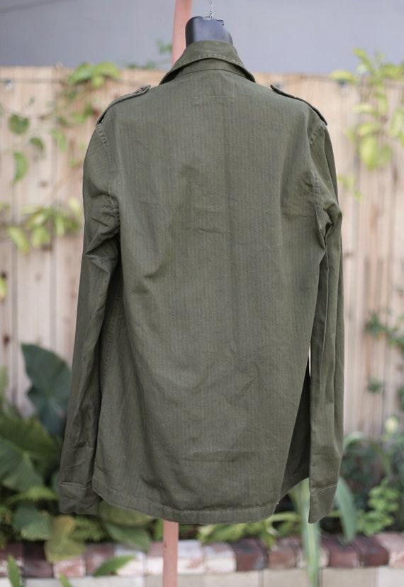 Vtg Army Jacket / Chore Military Workwear / Olive… - image 5