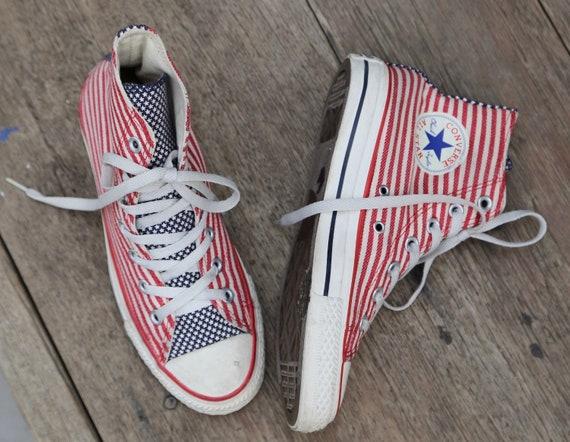 Americana Chuck Taylor Converse Chucks American Flag Red White  4b56aa8e5