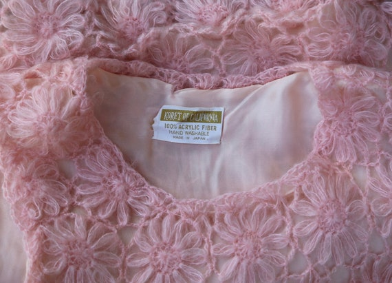 Vtg 60s Daisy Chain Sweater Vest / Pullover Top T… - image 7