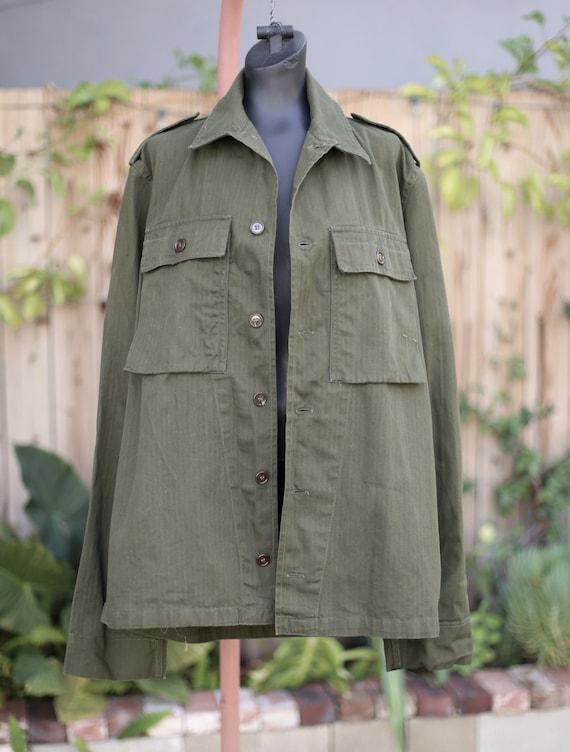 Vtg Army Jacket / Chore Military Workwear / Olive… - image 2