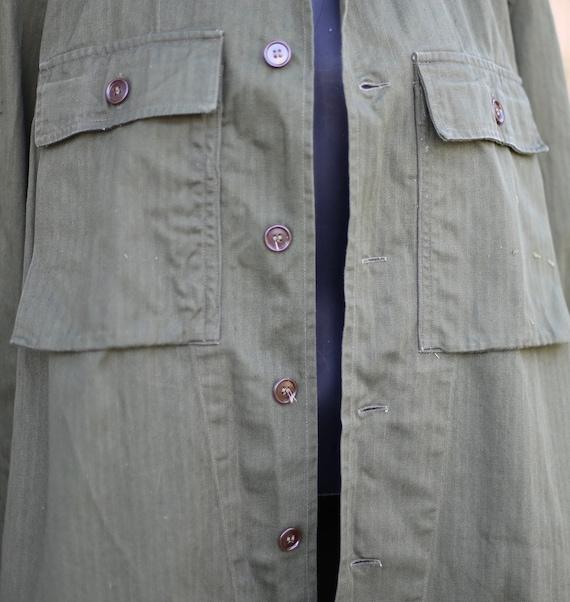 Vtg Army Jacket / Chore Military Workwear / Olive… - image 3