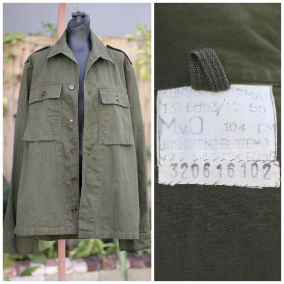 Vtg Army Jacket / Chore Military Workwear / Olive… - image 1