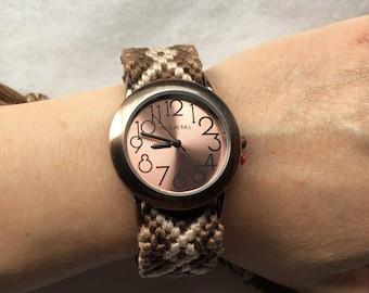 Friendship Bracelet Style Watch In Diamonback