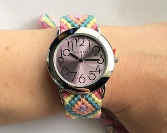 Friendship Bracelet Style Watch In Bunny