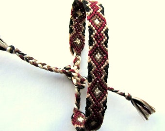 Oxblood Friendship Bracelet -Hand Woven -Made to Order