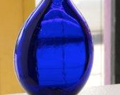Cobalt Blue Flat Vase wit...