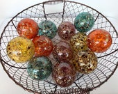 Speckled Glass Balls, Set...