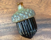 Glass Acorn, Brown and Go...