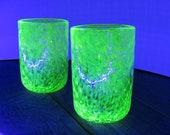Uranium Glass Tumbler Set...