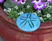 """Light Blue Solid Glass 3.5"""" Sand Dollar, Table Decoration, Wedding Favor, Paperweight, Hand Made Shell Sculpture, By Avalon Glassworks"""