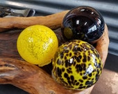Black and Yellow Glass Fl...