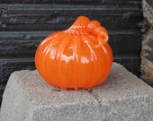 Orange Glass Pumpkin, 4&q...