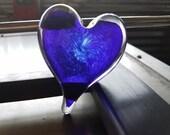 Cobalt Blue Glass Heart, ...