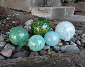 Green and Aqua Glass Floa...