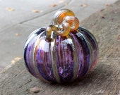 Purple & Gold Blown Glass...