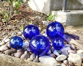 Cobalt Glass Floats, Set ...