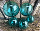 Aqua Glass Floats, Set of...