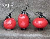 Red Lantern Set of 3 Orna...