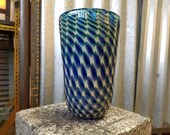 Blue Patterned Vase, 7&qu...