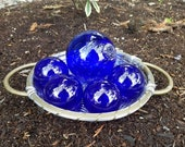 Cobalt Blue Glass Floats,...