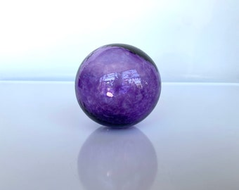 "Single Float, Choose Custom Color, 2.75"" Hand Blown Glass Decorative Ball, Small Transparent Interior Design, Garden Orb, Avalon Glassworks"