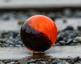 """Moclips 2020 Edition Float """"Northern Pacific"""" Blown Glass 4"""" Ball to Support the Museum of the North Beach, Moclips, WA by Avalon Glassworks"""