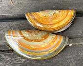 "Glass Razor Clams, Decorative 4.5"" Hand Blown Sea Shell Sculptures Northwest Delicacy, Sea Shore Decor Sea Life Clamshell, Avalon Glassworks"