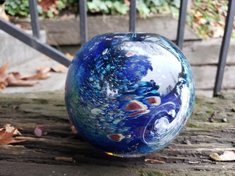 Luna Vase Earth Inspired Sphere Vase 4.5 Blown Glass image 0
