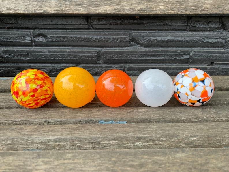 Little Goldfish Set of Five 2.75 Hand Blown Glass Balls image 0