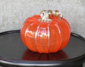 Orange Glass Pumpkin, 5&q...