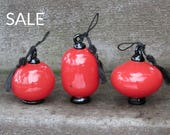 Red Lantern Set of 3 Orna...