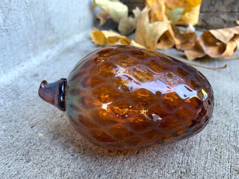 Glass Pine Cone 5 Blown Glass Pinecone Sculpture image 0