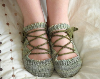 Elven Slippers PDF knitting pattern