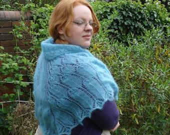 The Grateful Crane lace shawl - PDF knitting pattern