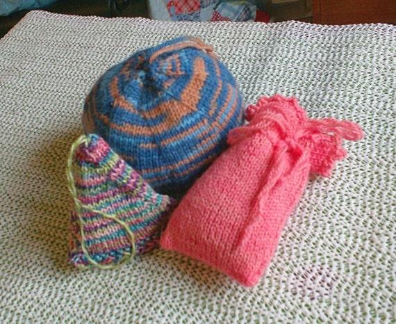 Three Sachets Pdf Digital Knitting Pattern Etsy