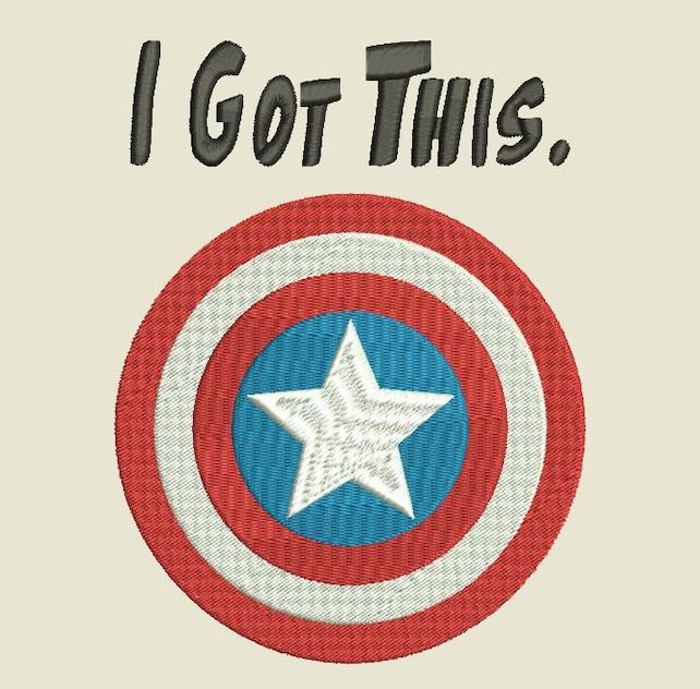 Captain America Shield Symbol Avengers Embroidery File Machine Etsy