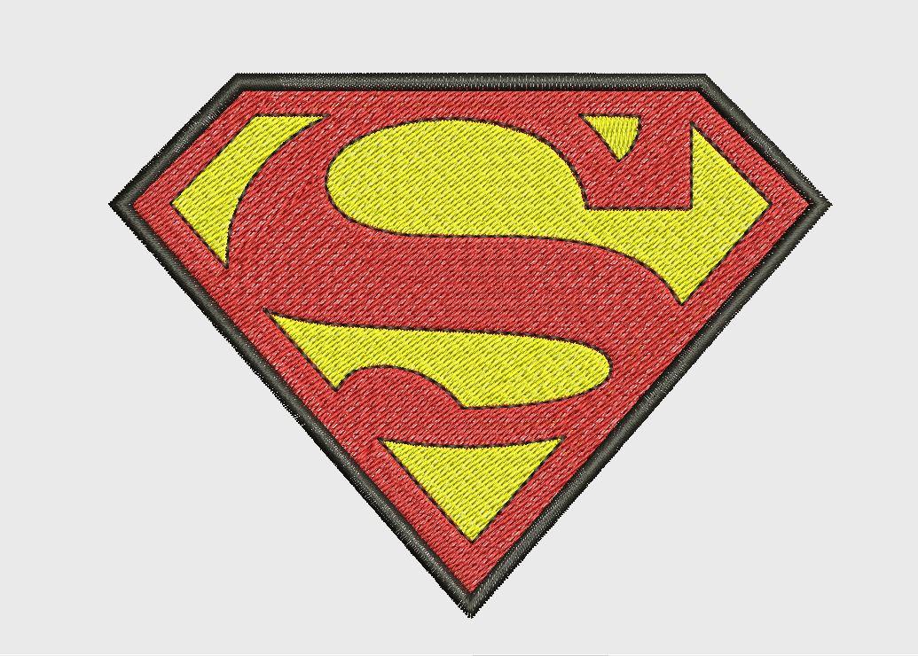 Superman Symbol Dc Comics Chest S Embroidery File Machine Etsy