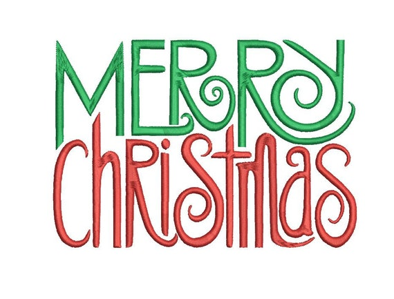 Merry Christmas Word Art Embroidery File Decorative Holiday Season Gift Fancy Machine Design Sign Pattern Download Exp Pes And More