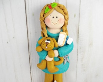 Polymer Clay Dog Groomer -Dog Groomer Gift - Dog Groomer Christmas Ornament -  Pet Owner Gift  -  Pet Groomer Gift - Pet Salon Owner -6311