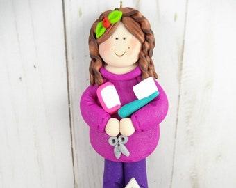 Hairdresser Gift - Gift for Beautician - Hairdresser Christmas Ornament - Beautician Christmas Ornament - Salon Christmas Ornament -6315